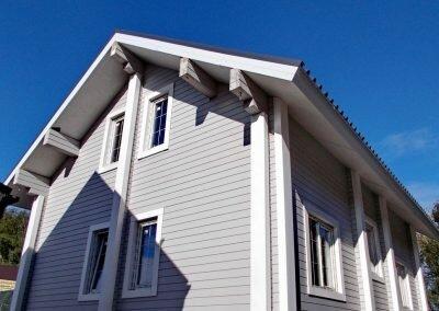 Дом 100 кв м из клееного бруса