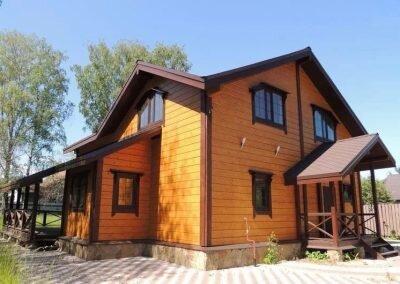 Готовый дом 200 кв м из клееного бруса 1