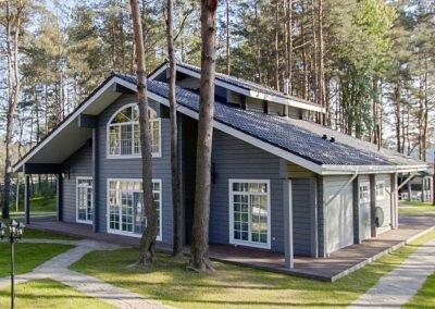 Готовый дом 250 кв. м. из клееного бруса